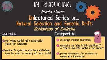 Amoeba Sisters Unlectured Series- NATURAL SELECTION and GENETIC DRIFT