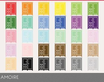 Amoire Digital Clipart, Amoire Graphics, Amoire PNG, Rainb
