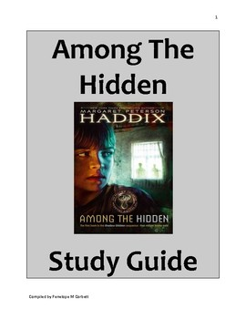 Among The Hidden By Margaret Peterson Haddix Novel Study Gudie