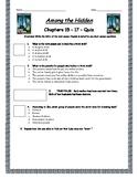 Among The Hidden - Chapter 15-17 Quiz - ANSWER KEY (Editable)