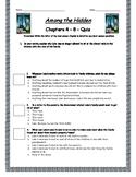 Among The Hidden - Chapter 4-8 Quiz - ANSWER KEY (Editable)