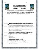 Among The Hidden - Chapter 9-14 Quiz - ANSWER KEY (Editable)