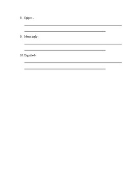 Among The Imposters Vocab and Book quiz ch 1-10