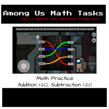 Among Us Addition And Subtraction Practice Tasks By The Parkie Teacher