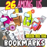 Among Us Bookmarks **Theme: Cool Professions, Stylish and fun to use!**