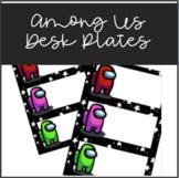 Among Us Rainbow Class Decor- Name Tags/Desk Plates with AmongUs Character/Stars