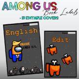 Among Us Editable Book Covers