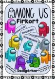 Among Us Firkort Editable