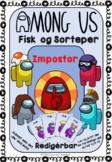 Among Us Fisk og Sorteper editable