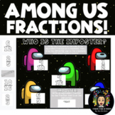Among Us Themed: Digital Fractions Practice!