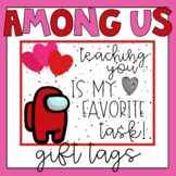 Among Us Valentine's Day Card Gift Tags from Teacher Set 2