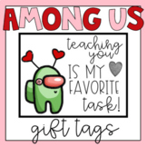 Among Us Valentine's Day Cards Gift Tags from Teacher Set 1