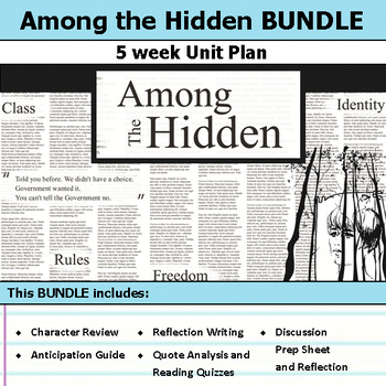 Among the Hidden Margaret Peterson Haddix Unit Bundle