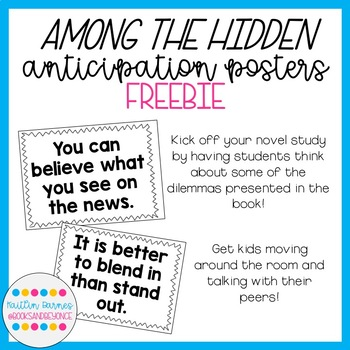 Among the Hidden Anticipation Posters FREEBIE