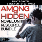 Among the Hidden Novel Study BUNDLE PACKET | GOOGLE - DISTANCE LEARNING