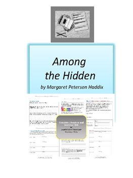 Among the Hidden Complete Literature and Grammar Unit