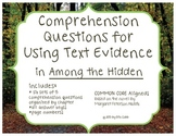 Among the Hidden Comprehension Questions for Using Text Evidence Common Core
