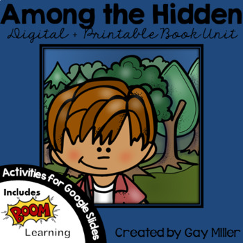 Among the Hidden Novel Study: vocabulary, comprehension, writing, skills