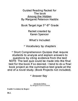 Among the Hidden Novel Study