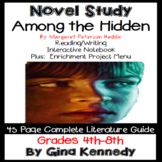 Among the Hidden Novel Study & Enrichment Project Menu