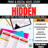 Among the Hidden Novel Unit + Digital Novel Study for Goog