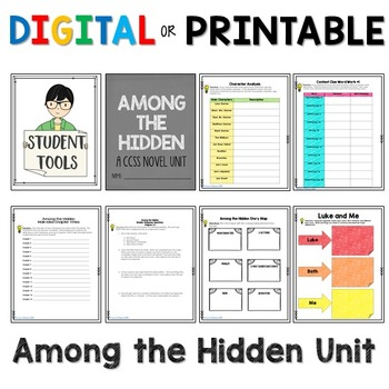 Among the Hidden Novel Unit for Google Slides Grades 4-8