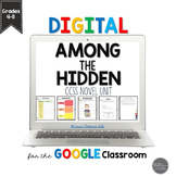 Among the Hidden Novel Unit for Google Slides Grades 4-8