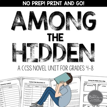 Among the Hidden Novel Study Unit for Grades 4-8 CCSS Aligned