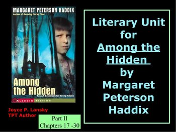 Among the Hidden - Part II - Literary Unit Power Point