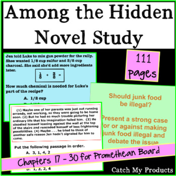 Among the Hidden - Part II - Literary Unit for Promethean Board