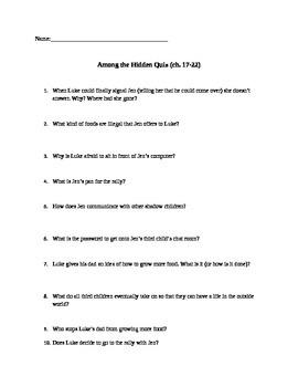 Among the Hidden Quiz