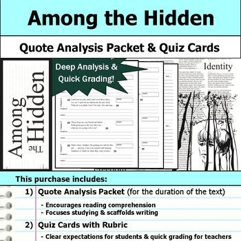 Among the Hidden by Margaret Peterson Haddix - Quote Analysis & Reading Quizzes