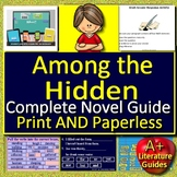 Among the Hidden Novel Study - Print and Go AND Paperless!