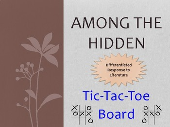 Among the Hidden:  Tic-Tac-Toe Board
