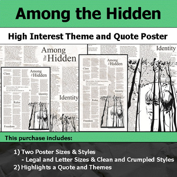 Among the Hidden - Visual Theme and Quote Poster for Bulletin Boards