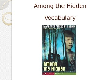 Among the Hidden Vocabulary Powerpoint