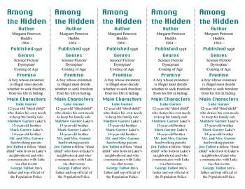 Among the Hidden ed. of Bookmarks Plus—Fun Freebie & Handy Little Reading Aid!