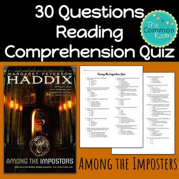 Among the Imposters (Haddix)-Comprehension Test or Quiz