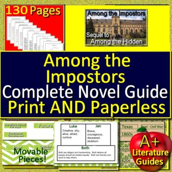 Among the Imposters Free Quiz Chapters 1 - 8 Novel Study Unit