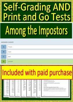 among the impostors novel study among the imposters tpt rh teacherspayteachers com Among the Brave Trey Among the Imposters Summary