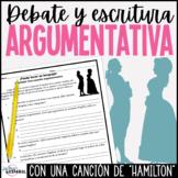 Bosquejo para Ensayo Argumentativo Hamilton Satisfied | Spanish Argument Essay