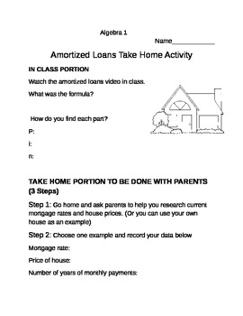 Amortized Loans Take Home Activity