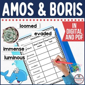 Amos & Boris Guided Reading and Writing Unit (PDF and Google Slide Versions)