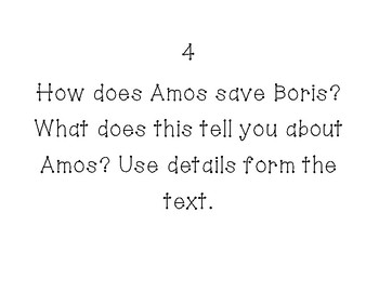 Amos & Boris SCOOT Comprehension Questions