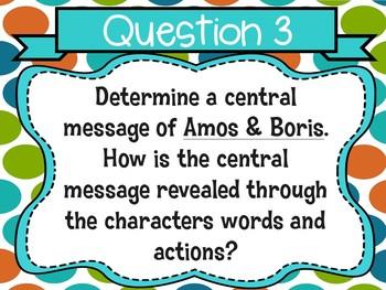 Amos & Boris by William Steig Text Talk Presentation and Organizers