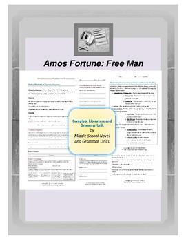 Amos Fortune Complete Literature and Grammar Unit