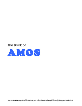Amos WORD Guide
