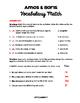 Amos and Boris - Vocabulary Study Guide