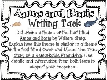 Amos and Boris by William Steig Writing Task