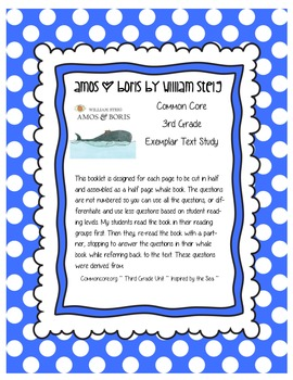 Amos and Boris by William Steig Common Core Inspired by the Sea Text Study